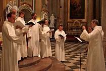 Ve velehradské bazilice se vneděli uskutečnil koncert Scholy Gregoriana Pragensis.