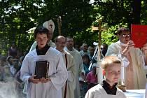 Mši svaté předcházela scéna o příchodu věrozvěstů do Chřibů.