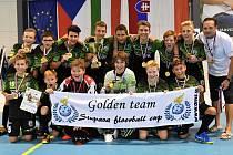 Zlatý tým florbalistů starších žáků 1.AC Uherský Brod / ZŠ Pod Vinohrady Uherský Brod.