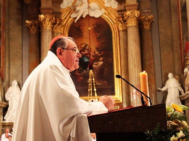 V bazilice Nanebevzetí Panny Marie a svatých Cyrila a Metoděje sloužil mši svatou arcibiskup olomoucký Jan Graubner, kazatelem byl kardinál Dominik Duka.