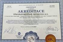 Uherskohradišťská nemocnice v těchto dnech obdržela akreditaci o vysoké úrovni poskytovaných služeb.