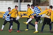 Fotbalisté 1. FC Slovácko v zimní přípravě stále čekají na výhru. Zvítězit se jim nepodařilo ani ve třetím utkání Tipsport ligy, když tentokrát se rozešli smírně s druholigovým Znojmem.