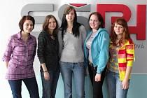 Zleva: Lada Machalová, Kristýna Trněná, Dora Maňasová, Kristýna Kuncová a Martina Čechová.