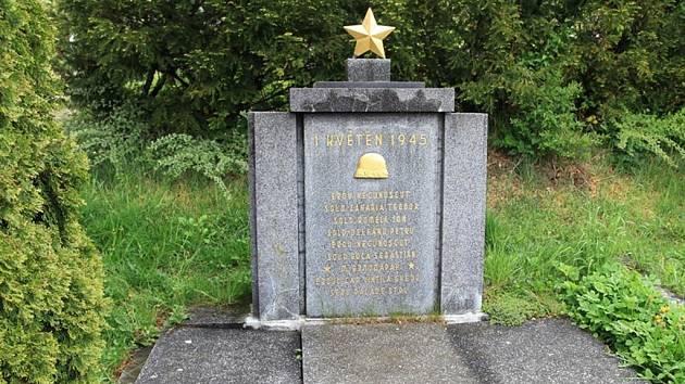 Pomník padlým rumunským a ruským vojákům v Bojkovicích.