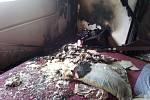 Požár v řadovém domě v Uherském Brodě