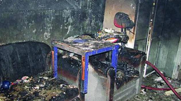 Požár napáchal škodu za 40 tisíc korun.