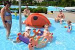 Oblíbené koupaliště v Sazovicích, snímek z 24. června 2021.
