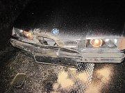 Muž na silnici I/50, u odbočky na Bzovou, srazil dva divočáky přebíhající přes silnici.