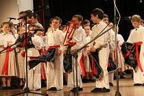 Vystoupení dětského folklorního souboru Dolinečka