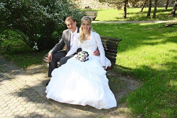 Soutěžící svatební pár číslo 25 - Monika a Ladislav Kroilovi, Dobrkovice.
