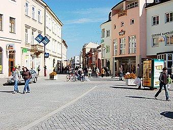 Masarykovo náměstí v Uherském Hradišti.