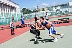 Na Slováckém létě v Uherském Hradišti se poprvé odehrál turnaj ve streetballu.
