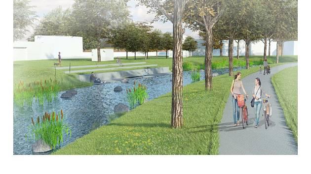 Město chce z okolí řeky udělat rekreační oblast.