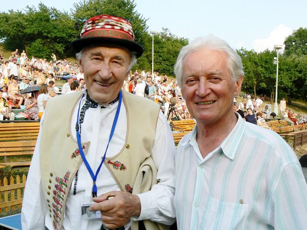 Martin Hrbáč (vpravo) se svým dlouholetým spoluhráčem Františkem Okénkou.