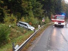 Dopravní nehoda v Chřibech.