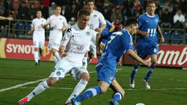 1. FC Slovácko - FC Baník Ostrava. Ilustrační foto.