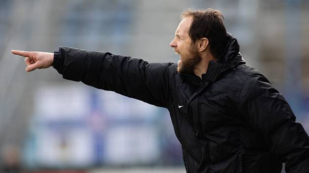 Koučující asistent trenéra Slovácka Michal Šmarda