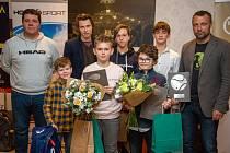 Nejlepší tenisové hráče regionu Slovácko vyhlásili ve Sportparku Rybníček ve Starém Městě.