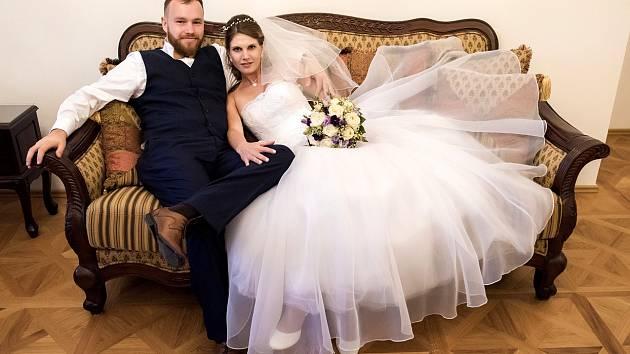 Soutěžní svatební pár číslo 132 - Veronika a Ladislav Karolovi, Strání-Květná