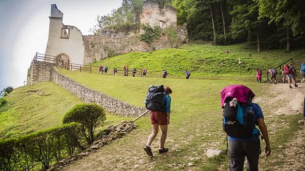 Mezinárodní trasa Cyrilometodějské stezky ze Skalky nad Váhom na Velehrad je dlouhá zhruba 90 kilometrů.