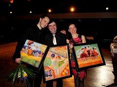 Divadelní ples a předávání cen oceněným hercům Slováckého divadla v roce 2014. Ilustrační foto.