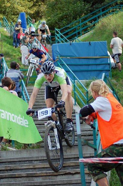 Divácky atraktivní pasaž závodů absolvovali cyklisté na mařatických schodech.