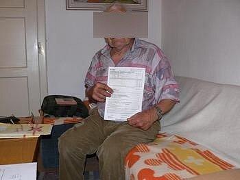 Podvedený občan. Ilustrační foto.