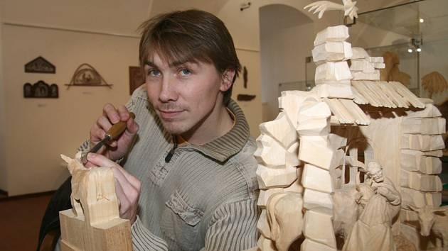 Petr Steffan prezentoval své dovednosti v muzeu minulý týden.