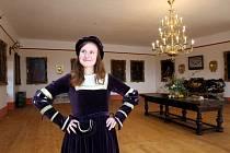 Taneční sál na hradě Buchlově.