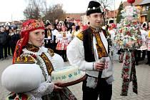 Dvaadevadesáté kateřinské hody se uskutečnily o víkendu v Huštěnovicích. Kralovali jim sourozenci Hrňovi.