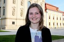 Šestnáctiletá Magdaléna Krchňavá z Buchlovic, studentky prvního ročníku Stojanova gymnázia Velehrad.