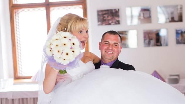 Soutěžní svatební pár číslo 107   – Petra a Marek Húbovi, Lošov