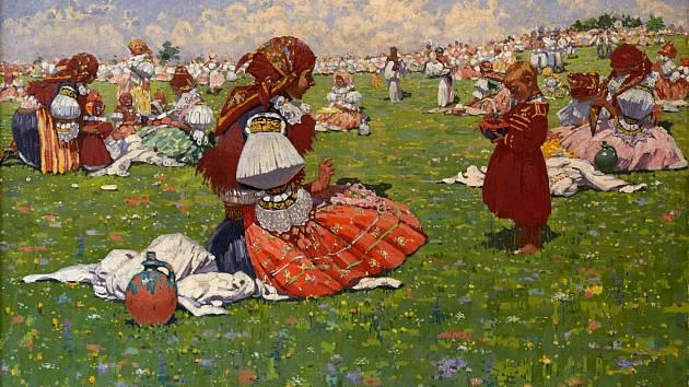 Nové obrazy Joži Uprky v expozici Galerie Joži Uprky v Uherském Hradišti.
