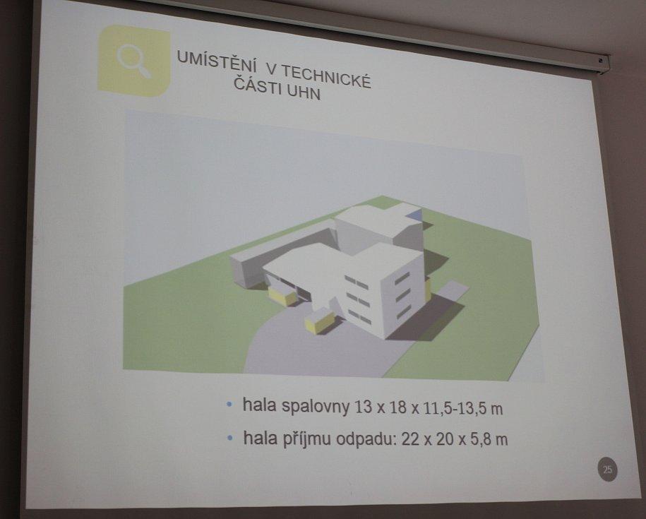 Modernizace spalovny nebezpečných odpadů v Uherskohradišťské nemocnici. Prezentace projektu. Jediná momentálně existující vizualizace.