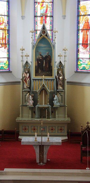 Bílá sobota v kostele sv. Filipa a Jakuba v Dolním Němčí.