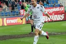 Jiří Valenta se raduje po gólu na 1:0.