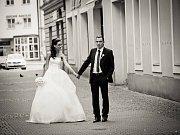 Soutěžní svatební pár číslo 140 - Inéz a Petr Halodovi, Uherské Hradiště.