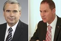 Zleva: poslanec Jaroslav Plachý (ODS) a poslanec Petr Gazdík (TOP09-STAN). Ilustrační foto.
