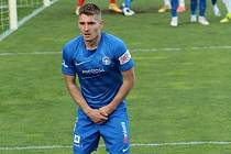 Záložník Liberce Michal Sadílek poprvé nastoupil v Uherském Hradišti jako soupeř.