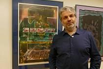 Jeden z nejvýznamnějších současných slovenských grafiků a malířů Marián Komáček představil svou tvorbu v uherskohradišťské Galerii Vladimíra Hrocha v Klubu kultury.