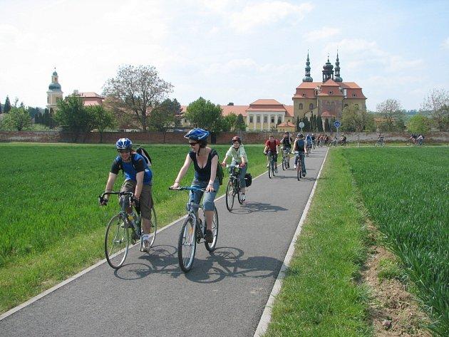 Cyklostezku mezi Starým Městem a Velehradem lze využít i o Cyrilometodějských slavnostech.