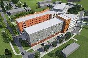 Nová budova interny Uherskohradišťské nemocnice má vyrůst za stávajícím centrálním objektem chirurgických oborů, který byl postaven v roce 2014.