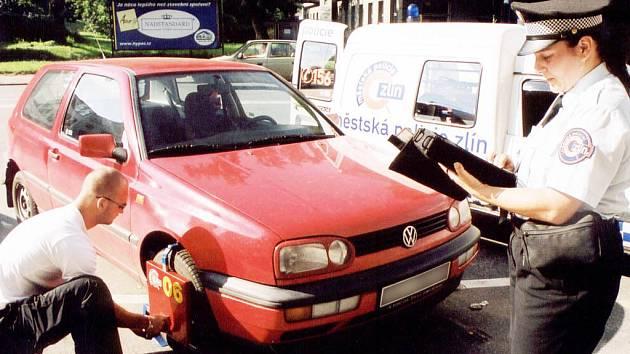 Městští strážníci ve Zlíně nasazují botičky už jen zřídka.