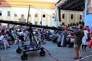 KONCERT. Vprůběhu Večera lidí dobré vůle vládla před velehradskou bazilikou nádherná atmosféra.