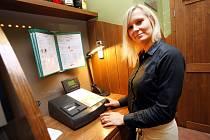 Registrační pokladna EET v pizzerii v hotelu MAXI v Uherském Hradišti.