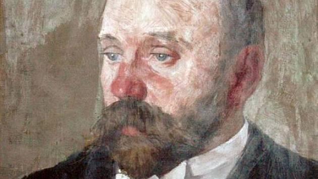 Josef Stancl na portrétu Joži Uprky.