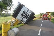 Nehoda kamionu u Pitína.