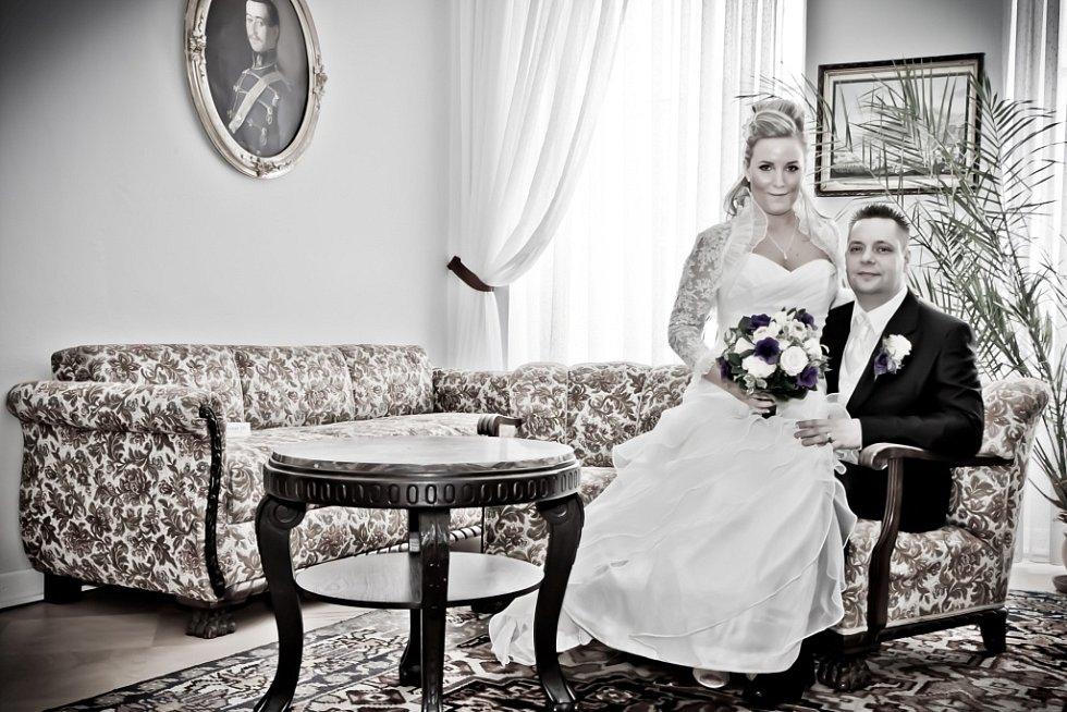 Soutěžní svatební pár číslo 12 - Vendula a Václav Žlebčíkovi, Valašské Meziříčí