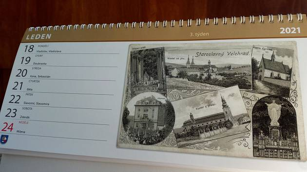 Kalendář obce Velehrad na rok 2021.
