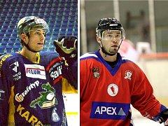 V celku hradišťských hokejistů došlo ke střídání stráží. Klub rozvázal smlouvu s Josefem Mikešem (vpravo), kterého v útoku nahradí šumperský Jan Matějka.